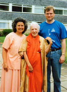 Satchi and Nigel with Indra Devi