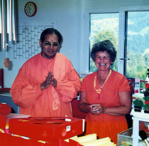 Swami Omkarananda and Satchi
